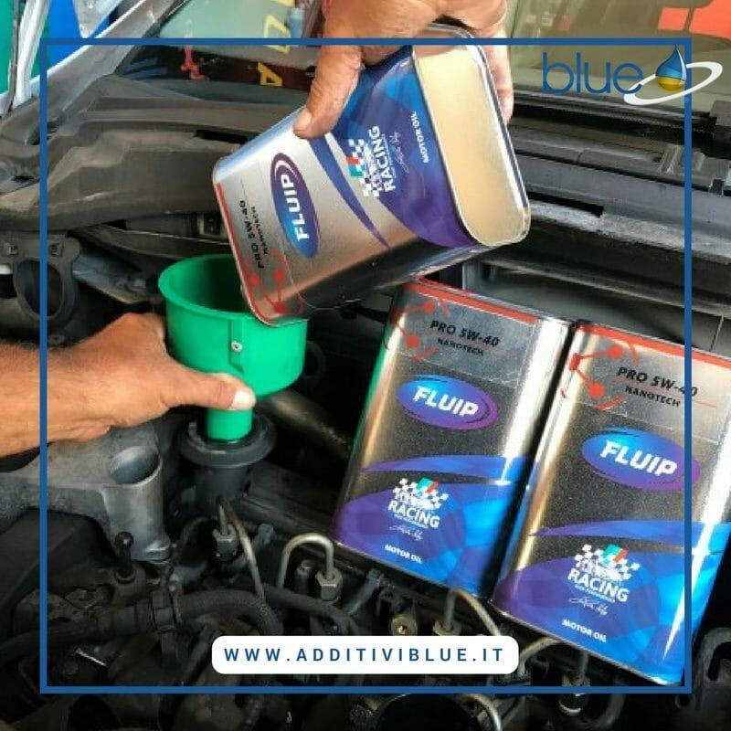 Pulizia de motore con Fluip Motor Oil